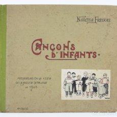 Libros antiguos: CANÇONS D'INFANTS, NARCISA FREIXA, 4ª EDICIÓ, ILUSTRACIONES TORNÉ ESQUIUS, BARCELONA. 26X23CM. Lote 175975949