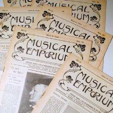 Libros antiguos: MUSICAL EMPORIUM NÚM. 21 A 30 (AÑO 1910 COMPLETO) - BARCELONA 1910. Lote 176043678