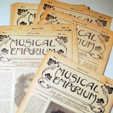 Libros antiguos: MUSICAL EMPORIUM NÚM. 41 A 50 (AÑO 1912 COMPLETO) - BARCELONA 1910. Lote 176043688