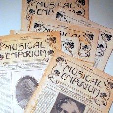 Libros antiguos: MUSICAL EMPORIUM NÚM. 61 A 70 (AÑO 1914 COMPLETO) - BARCELONA 1914. Lote 176043718