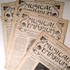 Libros antiguos: MUSICAL EMPORIUM NÚM. 76 A 80 (AÑO 1916 COMPLETO) - BARCELONA 1916. Lote 176043728