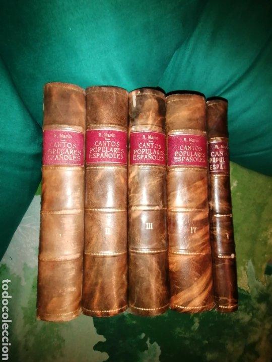 CANTOS POPULARES ESPAÑOLES. 1882. 5 VOLS. (Libros Antiguos, Raros y Curiosos - Bellas artes, ocio y coleccion - Música)