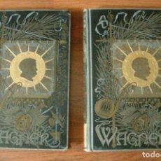 Libros antiguos: DRAMAS MUSICALES DE WAGNER. TOMO I Y II AÑO 1885. Lote 178021912