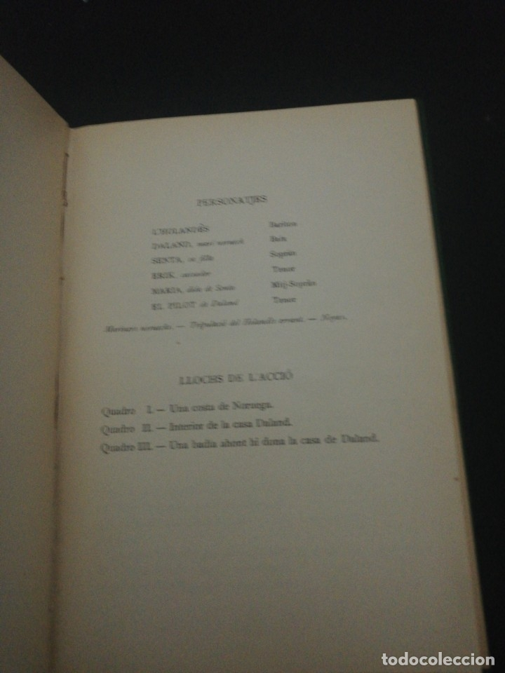 Libros antiguos: Ricart Wagner, lholandes errsnt, 1904 associacio wagneriana Barcelona - Foto 3 - 178912327