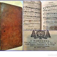 Libros antiguos: AÑO 1790: LIBRO DEL SIGLO XVIII CON PARTITURAS.. Lote 179336958
