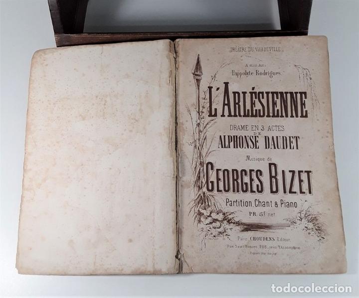 Libros antiguos: LARLÉSIENNE DRAME EN 3 ACTES. A. DAUDET. EDIT. CHOUDENS. IMP. AROUY. PARÍS. - Foto 4 - 180927640