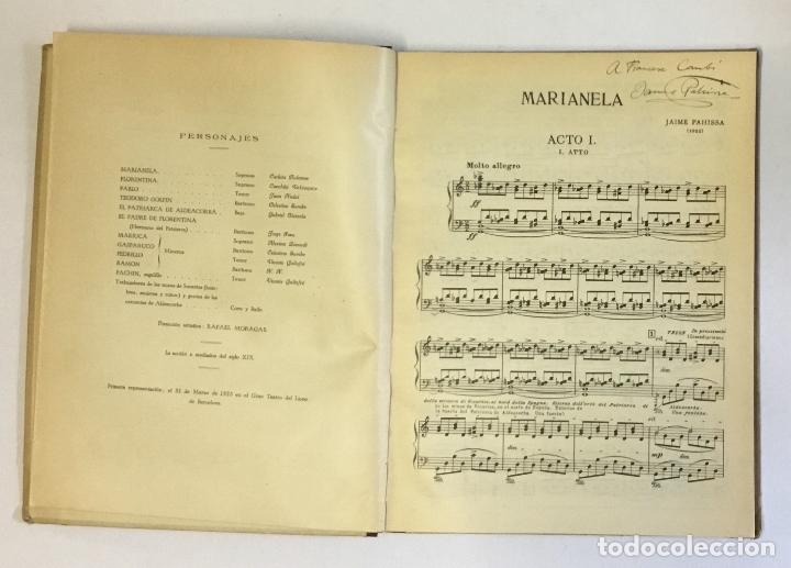 Libros antiguos: MARIANELA. Opera en tres actos. Libro de Serafín y Joaquín Álvarez Quintero. - PAHISSA, Jaime. - Foto 3 - 180959476