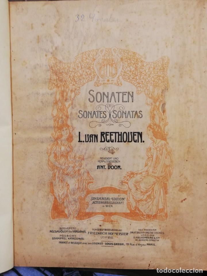 SONATAS L. VAN BEETHOVEN PARA PIANO. PARTITURAS (Libros Antiguos, Raros y Curiosos - Bellas artes, ocio y coleccion - Música)