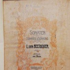 Libros antiguos: SONATAS L. VAN BEETHOVEN PARA PIANO. PARTITURAS. Lote 181803778