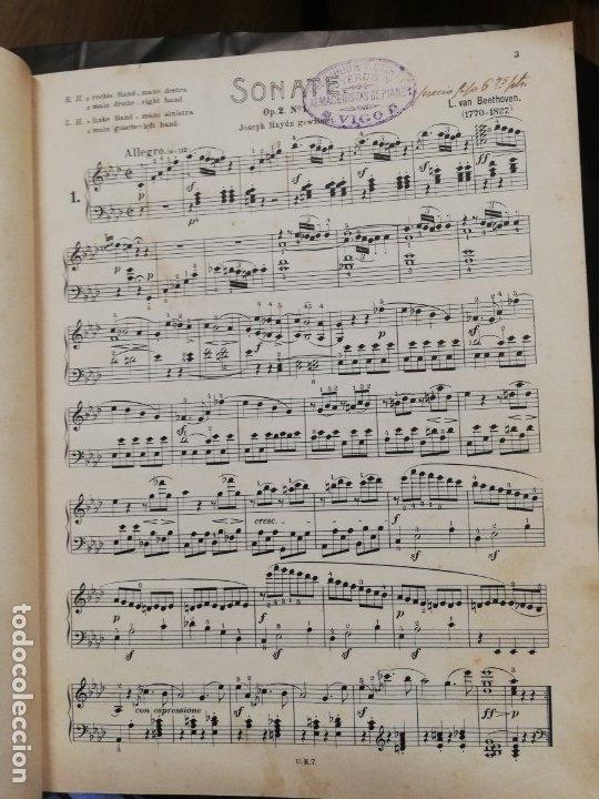 Libros antiguos: Sonatas L. Van Beethoven para piano. Partituras - Foto 4 - 181803778