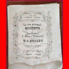 Libros antiguos: MOZART: LOTE DE PARTITURAS ANTIGUAS. SIGLO XIX?. Lote 182310678