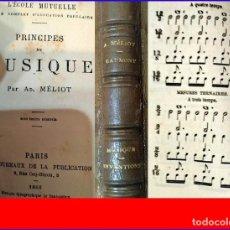 Libros antiguos: AÑO 1883: MUY RARO: PRINCIPIOS DE LA MÚSICA - INVENCIONES. ELEGANTE LIBRO DEL SIGLO XIX.. Lote 182584191