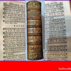 Libros antiguos: AÑO 1768: LOS SALMOS DE DAVID. CASI TODAS SUS PÁGINAS SON PARTITURAS. 958 PÁGINAS. SIGLO XVIII.. Lote 182586477