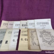 Libros antiguos: LOTE DE 12 ANTIGUOS LIBRETOS DE ESTUDIOS DE MÚSICA, CON PARTITURAS, PPIOS XX.. Lote 183799776