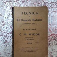 Libros antiguos: ANTIGUO LIBRO DE MÚSICA, TÉCNICA DE LA ORQUESTA MODERNA, CON PARTITURAS, PPIOS XX. Lote 183820978