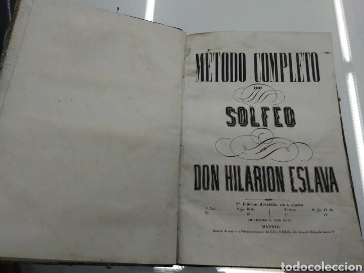 Libros antiguos: METODO DE SOLFEO COMPLETO POR DON HILARION ESLAVA 2° Edicion Completa Ca 1848 Rara Piel holandesa - Foto 4 - 189329698