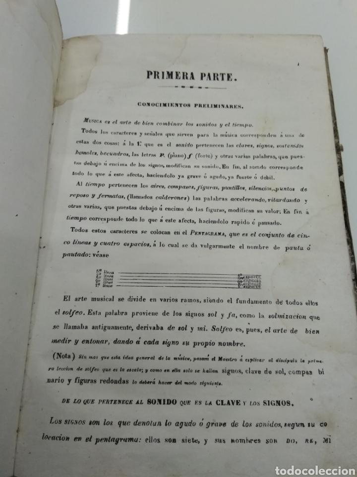 Libros antiguos: METODO DE SOLFEO COMPLETO POR DON HILARION ESLAVA 2° Edicion Completa Ca 1848 Rara Piel holandesa - Foto 5 - 189329698