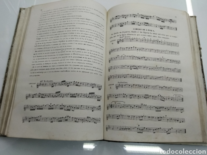 Libros antiguos: METODO DE SOLFEO COMPLETO POR DON HILARION ESLAVA 2° Edicion Completa Ca 1848 Rara Piel holandesa - Foto 9 - 189329698
