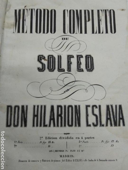 METODO DE SOLFEO COMPLETO POR DON HILARION ESLAVA 2° EDICION COMPLETA CA 1848 RARA PIEL HOLANDESA (Libros Antiguos, Raros y Curiosos - Bellas artes, ocio y coleccion - Música)
