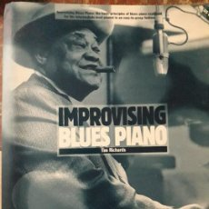 Libros antiguos: IMPROVISING BLUES PIANO TIM RICHARDS. Lote 189620676