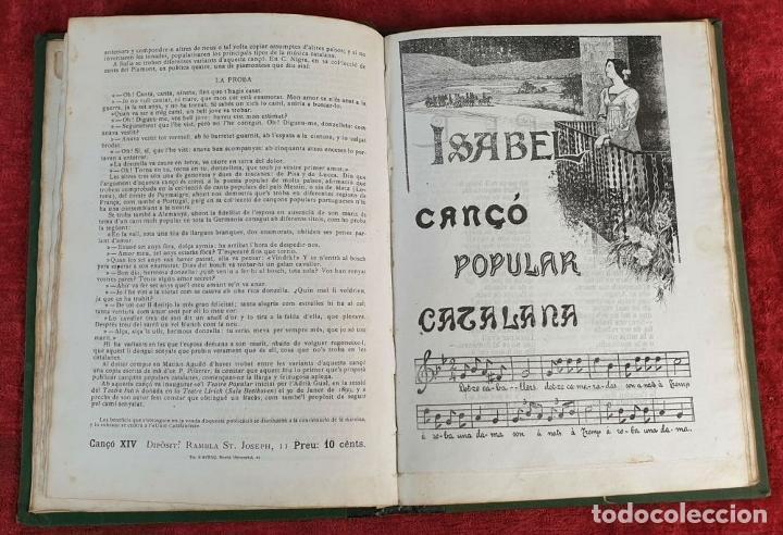 Libros antiguos: CANÇONER POPULAR CATALÁ. SEGUNDA SERIE. VARIOS AUTORES. VARIAS IMPRENTAS. 1907. - Foto 4 - 190229047