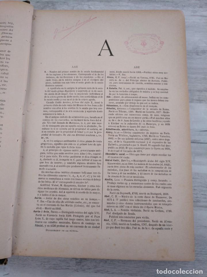 Libros antiguos: DICCIONARIO DE LA MÚSICA - OBRA DE LUISA LACÁL (AÑO 1900) - Foto 6 - 190529048