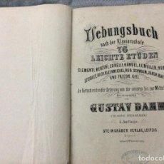 Libros antiguos: LIBRO DE EJERCICIOS DESPUÉS DE LA ESCUELA DE PIANO, ESTUDIOS FÁCILES. EDITADO POR GUSTAV DAMM, 1884.. Lote 191446456