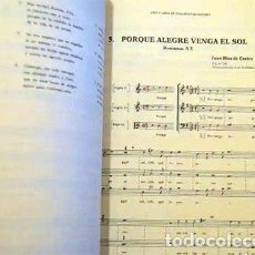 Libros antiguos: JUAN BLAS DE CASTRO (CA 1561-1631). VIDA Y OBRA MUSICAL. (PARTITURAS. MÚSICA XVI, XVII. Lote 192786568