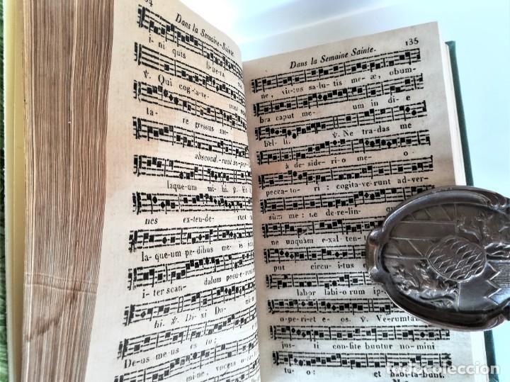 Libros antiguos: ANTIGUO LIBRO,MUSICA Y CANTO RELIGIOSO,SIGLO XIX,AÑO,1827,FUNERALES,SEMANA SANTA Y DIFERENTES OFICOS - Foto 4 - 192975307