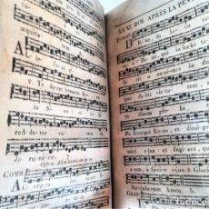 Libros antiguos: ANTIGUO LIBRO,MUSICA Y CANTO RELIGIOSO,SIGLO XIX,AÑO,1827,FUNERALES,SEMANA SANTA Y DIFERENTES OFICOS. Lote 192975307