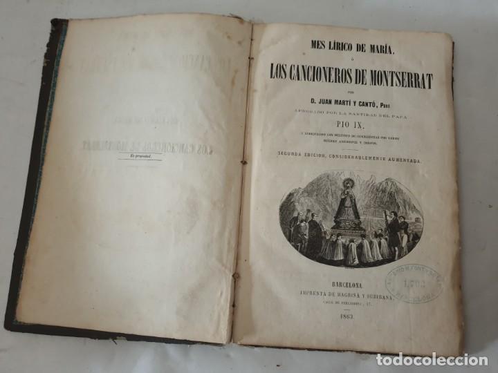 LOS CANCIONEROS DE MONTSERRAT 1863 (Libros Antiguos, Raros y Curiosos - Bellas artes, ocio y coleccion - Música)