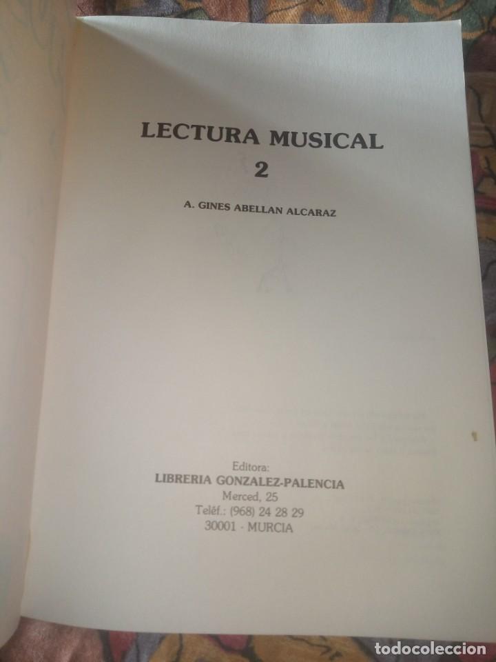 Libros antiguos: Lectura Musical 2 - A. Ginés Abellán - Edición 1987 - Foto 3 - 194208468