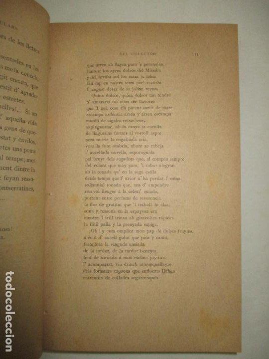 Libros antiguos: CANSONS Y FOLLIES POPULARS (INÉDITES). RECULLIDES AL PEU DE MONTSERRAT. BERTRAN Y BROS, Pau. 1885. - Foto 3 - 194393425