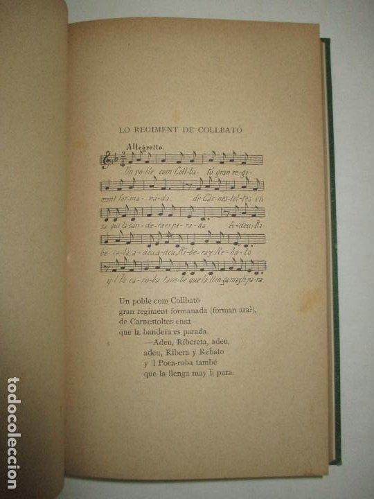 Libros antiguos: CANSONS Y FOLLIES POPULARS (INÉDITES). RECULLIDES AL PEU DE MONTSERRAT. BERTRAN Y BROS, Pau. 1885. - Foto 4 - 194393425