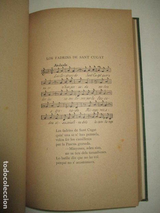 Libros antiguos: CANSONS Y FOLLIES POPULARS (INÉDITES). RECULLIDES AL PEU DE MONTSERRAT. BERTRAN Y BROS, Pau. 1885. - Foto 6 - 194393425