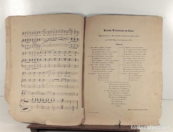 Libros antiguos: ESPAÑA VICTORIOSA EN CUBA. MIGUEL FONT LLAGOSTERA. EDIT. LOUIS E. DOTÉSIO. BILBAO. S/F. - Foto 5 - 170272804