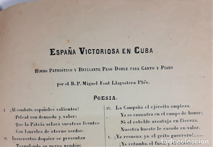 Libros antiguos: ESPAÑA VICTORIOSA EN CUBA. MIGUEL FONT LLAGOSTERA. EDIT. LOUIS E. DOTÉSIO. BILBAO. S/F. - Foto 7 - 170272804