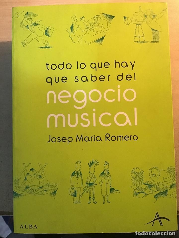NEGOCIO MUSICAL. J. M. ROMERO (Libros Antiguos, Raros y Curiosos - Bellas artes, ocio y coleccion - Música)