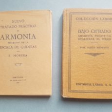 Libros antiguos: LOTE DE 2 NUEVO TRATADO DE ARMONÍA PRECEDIDO DE LA ESCALA DE QUINTAS Y BAJO CIFRADO ARMONÍA PRÁCTICA. Lote 195480202