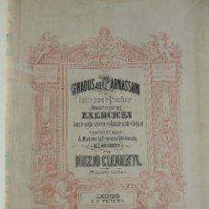 Libros antiguos: ANTIGUO LIBRO DE PARTITURAS MUSICALES, PARA PIANO.VARIOS AUTORES.C.F. PETERS. SELLO CASA DE MÚSICA.. Lote 197335493