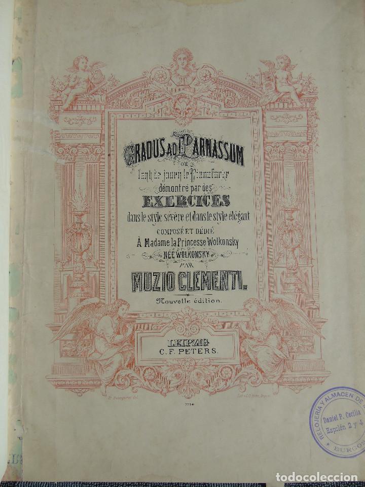 Libros antiguos: ANTIGUO LIBRO DE PARTITURAS MUSICALES, PARA PIANO.VARIOS AUTORES.C.F. PETERS. SELLO CASA DE MÚSICA. - Foto 4 - 197335493
