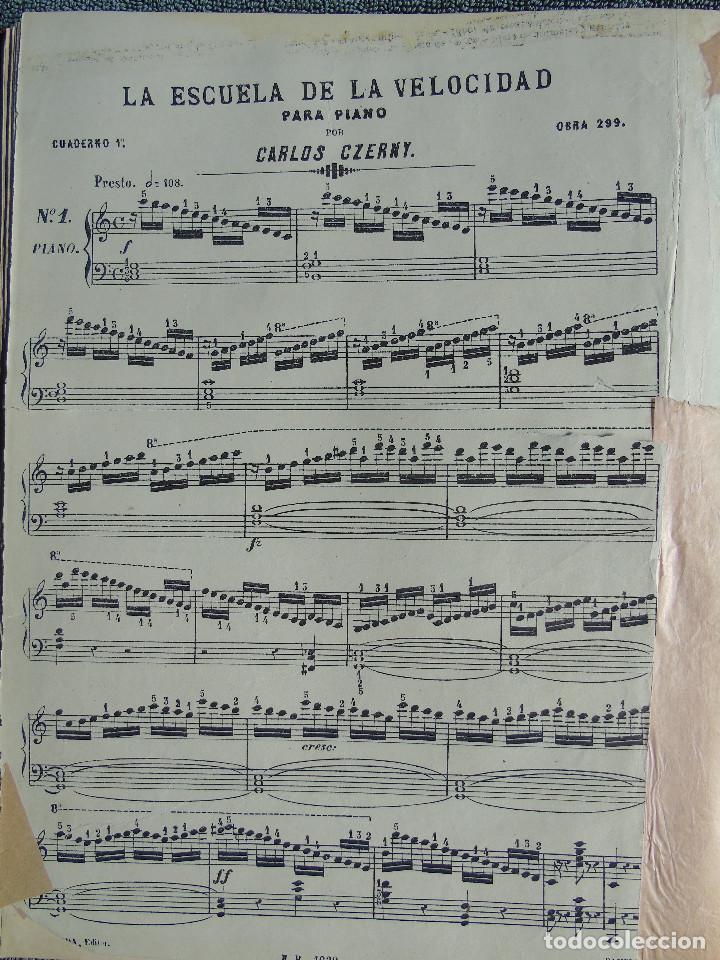 Libros antiguos: ANTIGUO LIBRO DE PARTITURAS MUSICALES, PARA PIANO.VARIOS AUTORES.C.F. PETERS. SELLO CASA DE MÚSICA. - Foto 5 - 197335493