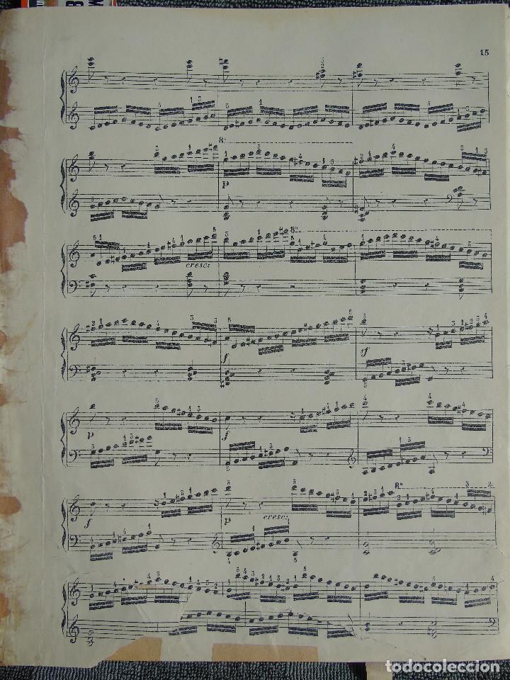 Libros antiguos: ANTIGUO LIBRO DE PARTITURAS MUSICALES, PARA PIANO.VARIOS AUTORES.C.F. PETERS. SELLO CASA DE MÚSICA. - Foto 7 - 197335493