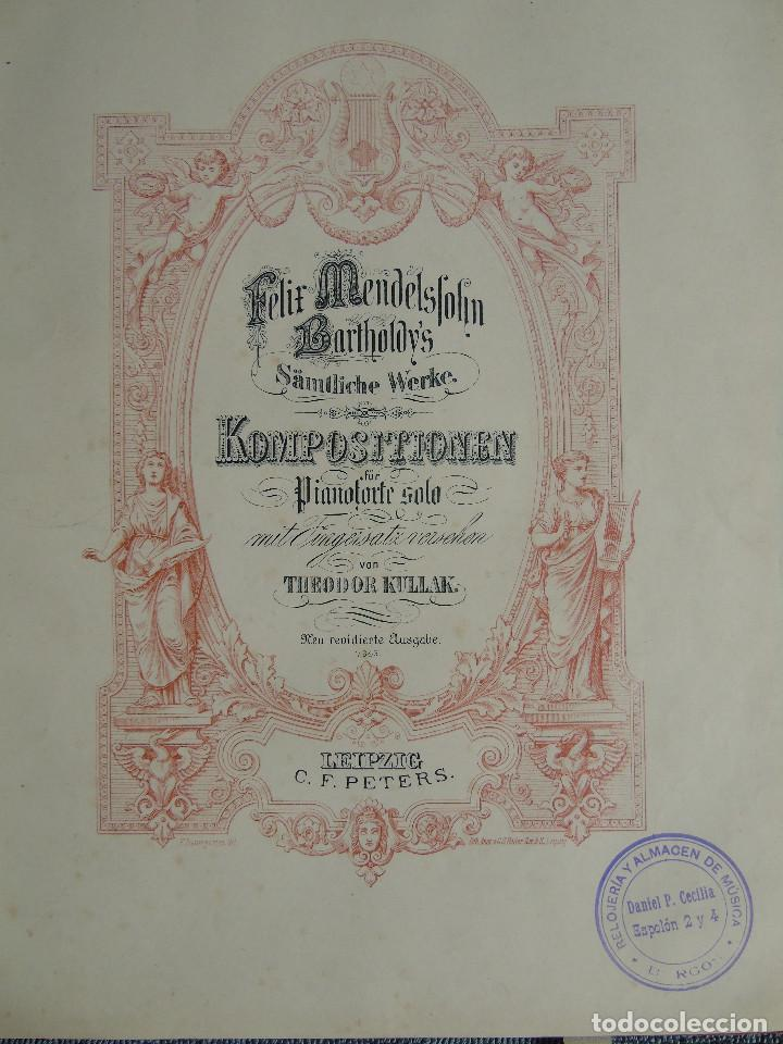 Libros antiguos: ANTIGUO LIBRO DE PARTITURAS MUSICALES, PARA PIANO.VARIOS AUTORES.C.F. PETERS. SELLO CASA DE MÚSICA. - Foto 9 - 197335493