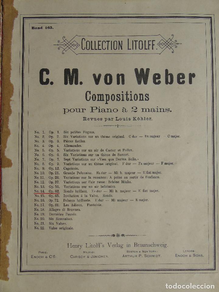 Libros antiguos: ANTIGUO LIBRO DE PARTITURAS MUSICALES, PARA PIANO.VARIOS AUTORES.C.F. PETERS. SELLO CASA DE MÚSICA. - Foto 10 - 197335493