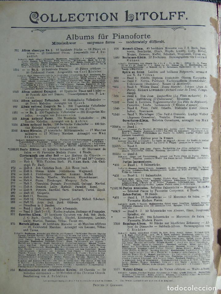 Libros antiguos: ANTIGUO LIBRO DE PARTITURAS MUSICALES, PARA PIANO.VARIOS AUTORES.C.F. PETERS. SELLO CASA DE MÚSICA. - Foto 11 - 197335493