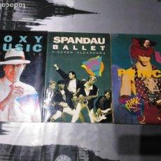 Libros antiguos: LOTE 3 LIBROS COLECCIÓN VIDEO ROCK - PRINCE - ROXY MUSIC Y SPANDAU BALLET. Lote 198962612