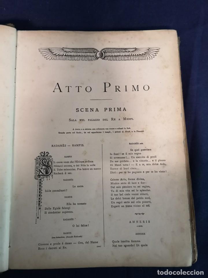 Libros antiguos: AIDA.G.VERDI, OPERA COMPLETA PER CANTO E PIANOFORTE.EDIZIONI RICORDI - Foto 4 - 200290376