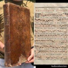 Libros antiguos: 1750 - ANTIPHONARIUM SEU VESPERALE ROMANUM - ANTIFONARIO - CANTORAL - TRIDENTINO - GREGORIANO. Lote 204146622