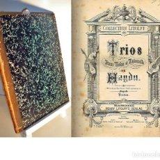Libros antiguos: HAYDN: TRIOS PARA PIANO, VIOLÓN Y VIOLONCELO N° 1 A 31. Lote 204261935